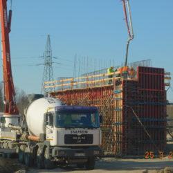 Betonowanie korpusu wiaduktu drogowego WS-25, km 24+000