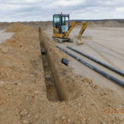 Budowa kanału technologicznego, km 18+200