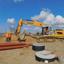 Budowa kanalizacji deszczowej, km 20+480