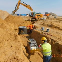 Budowa kanalizacji deszczowej, km 21+050