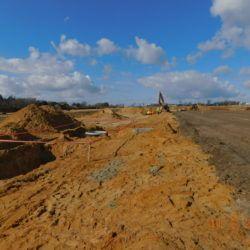 Budowa kanalizacji deszczowej, km 21+300