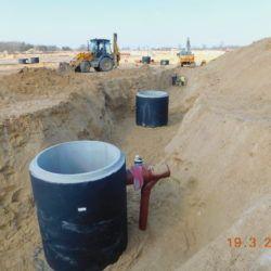 Budowa kanalizacji deszczowej, km 21+350