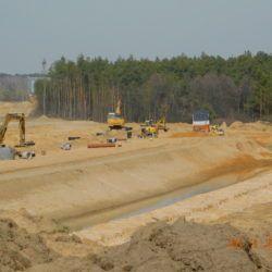 Budowa kanalizacji deszczowej, km 21+850