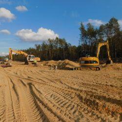 Budowa kanalizacji deszczowej, km 24+500