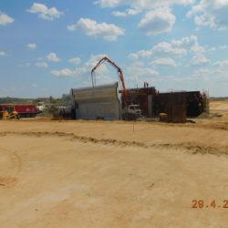 Betonowanie ścianki zaplecznej wiaduktu drogowego WS-20, km 18+530