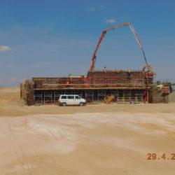 Betonowanie ścianki zaplecznej wiaduktu drogowego WS-20, km 18+550