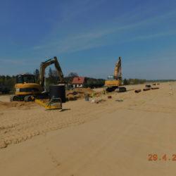 Budowa kanalizacji deszczowej, km 20+200