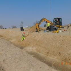 Budowa kanalizacji deszczowej, km 20+600