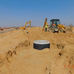 Budowa kanalizacji deszczowej, km 21+250