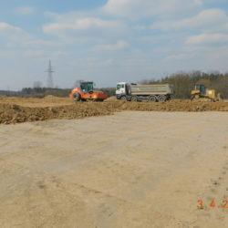 Budowa nasypu drogowego, km 23+850
