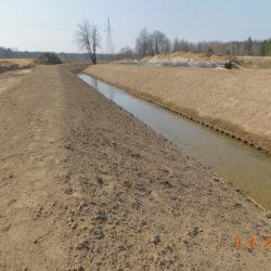 Przebudowane koryto rzeki Biała, km 23+500