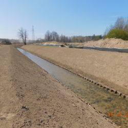 Przebudowane koryto rzeki Biała, km 23+550