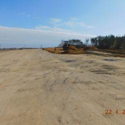 Trasa główna, budowa nasypu drogowego, km 24+100