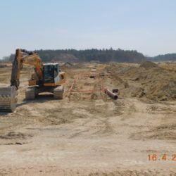 Budowa kanalizacji deszczowej, km 20+850