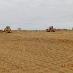 Budowa nasypu drogowego, km 18+650