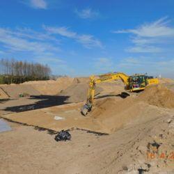Budowa zbiornika retencyjnego ZR1, km 18+650