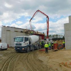 Betonowanie korpusu wiaduktu drogowego WS-20, km 18+536