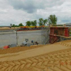 Deskowanie ustroju nośnego wiaduktu drogowego WS-21, km 20+385