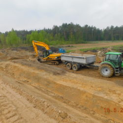 Prace związane z umacnianiem rzeki Żytnówka, km 21+698