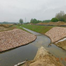 Przebudowywane koryto rzeki Biała, km 23+460