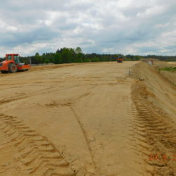 Trasa główna, budowa nasypu drogowego, km 23+800