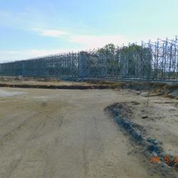 Węzeł południe, deskowanie ustroju nośnego wiaduktu drogowego WS-25, km 23+990