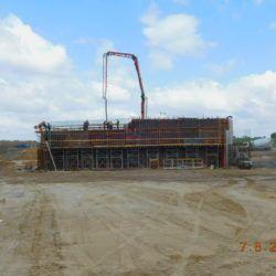 Betonowanie korpusu wiaduktu drogowego WS-20, km 18+550