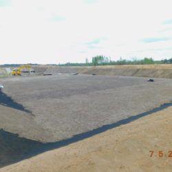 Umocnienie i humusowanie zbiornika retencyjnego ZR1, km 18+650