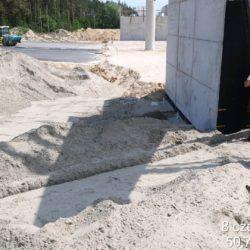 Betonowanie korytka za obiektem WD-22 w km 22+300