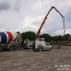 Betonowanie ustroju nośnego obiektu mostowego MS-23 strona prawa km 23+461