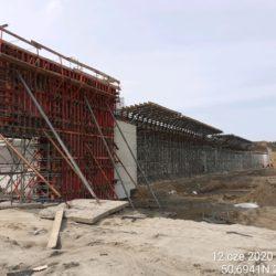 Deskowanie ścian węzła drogowego Janów Lubelski Południe w km 24+010