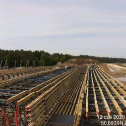 Deskowanie ustroju nośnego Węzła drogowego - Janów Lubelski Południe w km 24+010