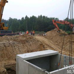 Montaż zbiornika przeciw pożarowego MOP Prawy km 21+150