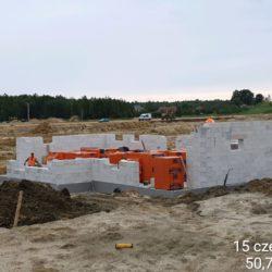 Murowanie ścian MOP lewy km 21+050