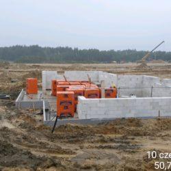 Murowanie ścian MOP lewy km 21+150