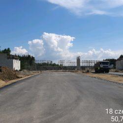 Rozstawianie rusztowania pod ustrój nośny wiaduktu drogowego WS-22 w km 22+300