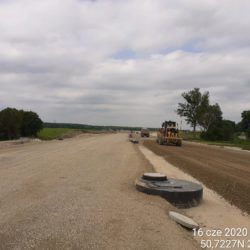 Podbudowa z kruszywa w km 19+900