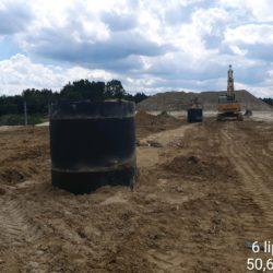 Roboty branżowe - budowa kanalizacji deszczowej w km 23+700