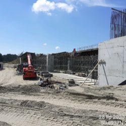 Rozstawianie rusztowania oraz montaż deskowania Węzła Janów Lubelski Południe