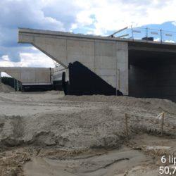 Zasypka przyczólka wiaduktu drogowego WS-21 w km 20+375