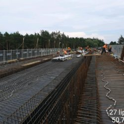 Zbrojenie ustroju nośnego wiaduktu drogowego WD-22 w km 22+300