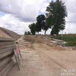 Budowa chodnika przy DK-19 w km 22+300 (2)