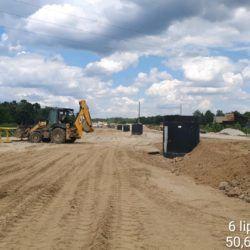 Budowa kanalizacji deszczowej w km 23+570