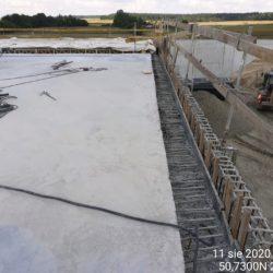 przygotowanie nawierzchni betonowej płyty obiektu WS-20 km 18+536 jezdnia prawa