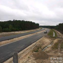 widok na trasę główną (kierunek Kraśnik) z obiektu WD-22 22+300