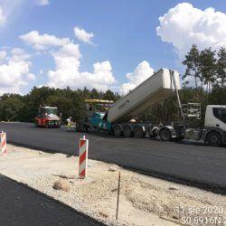 Wykonanie podbudowy bitumicznej km 24+300 jezdnia lewa