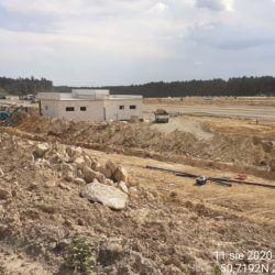 budowa uzbrojenia podziemnego MOP strona lewa