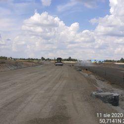 profilowanie podbudowy z kruszywa jezdnia prawa km 21+400