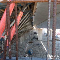 Wyparcie konstrukcji obiektu jezdania lewa WS-25 23+979