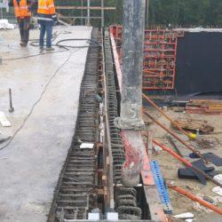 Betonowanie ścianki zaplecznej WS-25 23+979 jezdnia lewa
